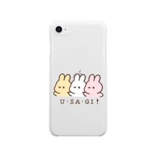 U・SA・GI! Clear smartphone cases
