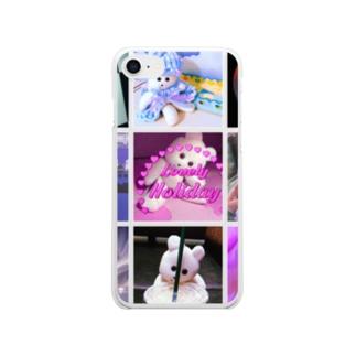 クマキチ・メモリーズ Clear smartphone cases