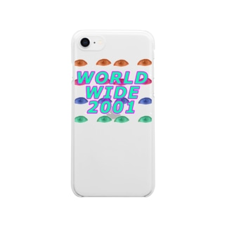 WORLD WIDE 2001 目 Clear smartphone cases