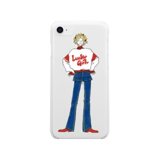 Lucky Girl Clear smartphone cases