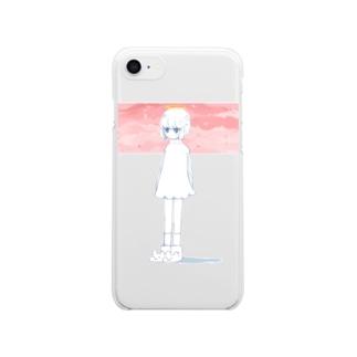 さくらてんしちゃん Clear smartphone cases