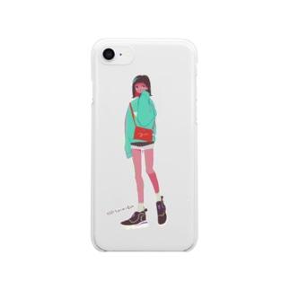 まちあわせ(妹) Clear smartphone cases