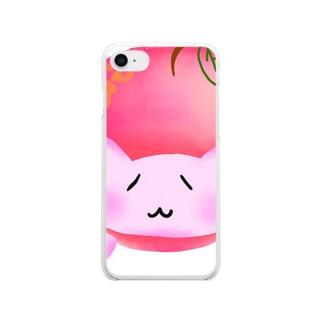 ©️ゆるマイ  りんご猫 Clear smartphone cases