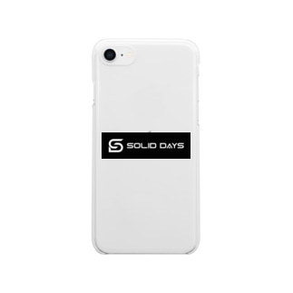 SOLID DAYS 2019 ボックスロゴ Clear smartphone cases