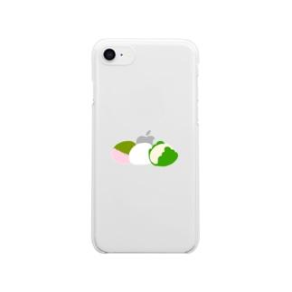 おもち三兄弟 Clear smartphone cases