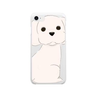 のほほんトイプードル Clear smartphone cases