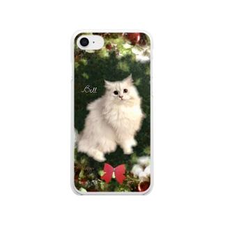 葡萄と林檎と猫🍇 Clear smartphone cases