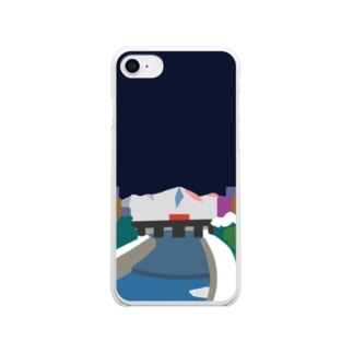 鴨  川 (夜) Clear smartphone cases