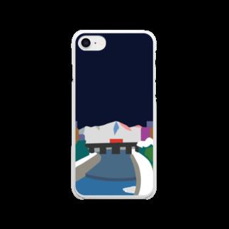 7センチの鴨  川 (夜) Clear smartphone cases