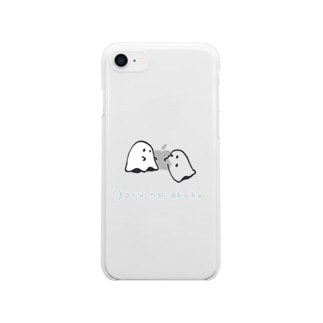 よるのおばけ Clear smartphone cases