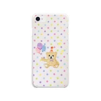 バルーンくまさん🎈 Clear smartphone cases
