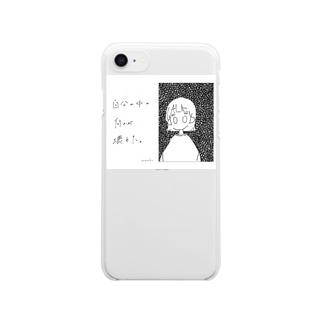 ネガティブ女子 Clear smartphone cases