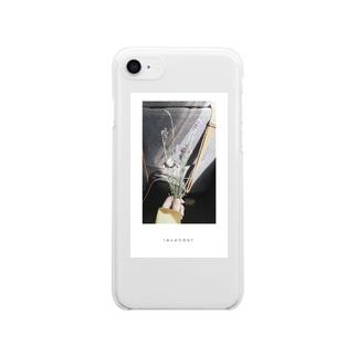 ラベンダー Clear smartphone cases