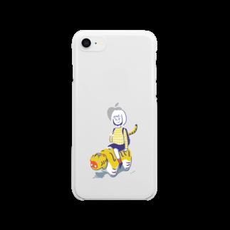 チチチ商店の張子の虎と女の子 Clear smartphone cases