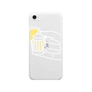 クズノミショット Clear smartphone cases