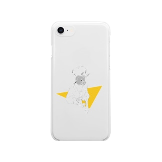 Yellow. Clear smartphone cases