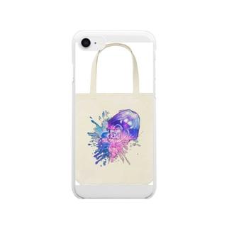 すぷたんウォーターカラー Clear smartphone cases