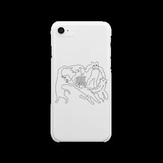 ℴんちゅのネケチェン・アウトライン Clear smartphone cases