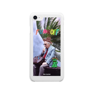 FU☺︎K OFF DADDY (WINDY) Clear smartphone cases