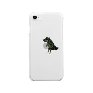 こわいきょうりゅうのiPhoneケース(7/8,XS,XR推奨) Clear smartphone cases