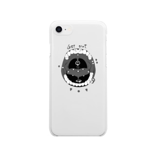 get out Clear smartphone cases