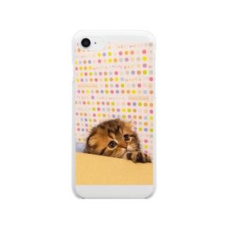 すこまるくん Clear smartphone cases
