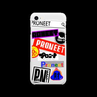 プロニート公式ネットショップのプロニートロゴ集合! Clear smartphone cases