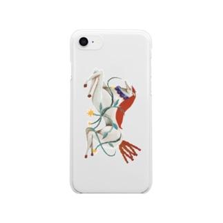 白馬の王子 Clear smartphone cases
