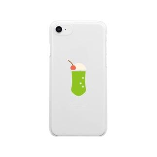 クリームソーダ Clear smartphone cases