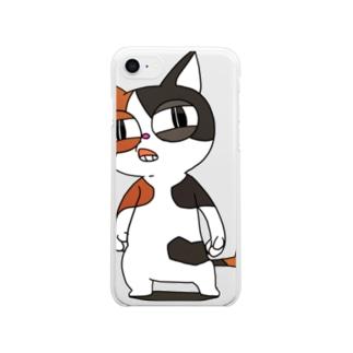 せのじろう(初代) Clear smartphone cases