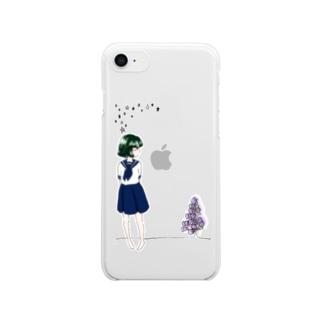 一目惚れ/color Clear smartphone cases