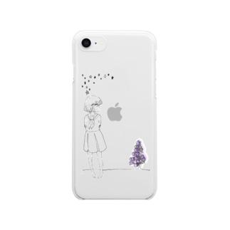 一目惚れ/clear Clear smartphone cases