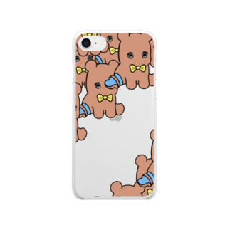 はやしのKUMA Clear smartphone cases