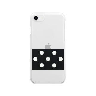 ただの水玉 Clear smartphone cases