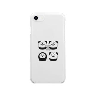 ぱんだるまん7/8専用その1 Clear smartphone cases