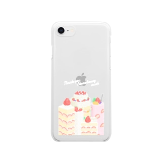 Thank you Strawberry much スマホケース Clear smartphone cases