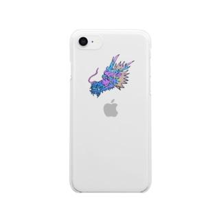 にこやかな龍♪ Clear smartphone cases