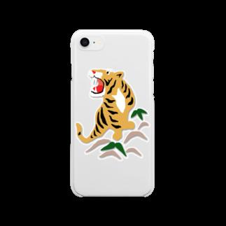 れなしやの虎!虎!虎! Clear smartphone cases