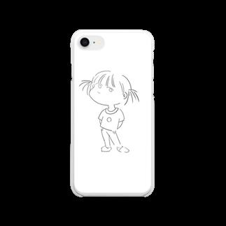 大学生のおみせの強気な女の子 Clear smartphone cases