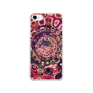 PINKの世界 in kaleidoscope Clear smartphone cases