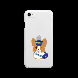 びすけの配達コーギー  Clear smartphone cases