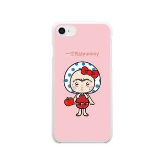 まめこ Clear smartphone cases