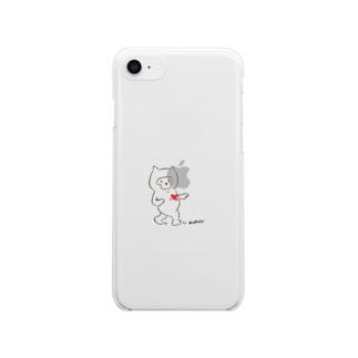 むーんうぉーく〜 Clear smartphone cases