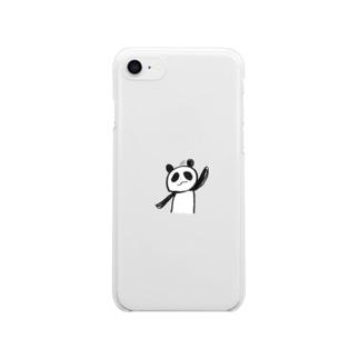 ぱんだ Clear smartphone cases