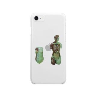 人体模型 Clear smartphone cases