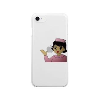 看護婦さん Clear smartphone cases