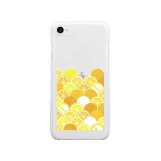 orinのからあげにレモンかけないで Clear smartphone cases