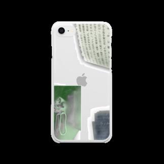 munyamunyaのearrings mem Clear smartphone cases
