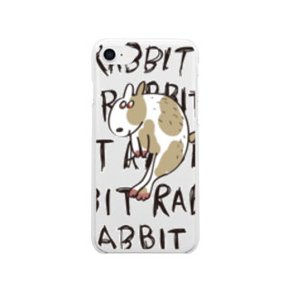 _t__r_o_o_m_の浮遊ウサギ Clear smartphone cases