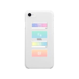 タンサンのウインドウスマホケース。 Clear smartphone cases